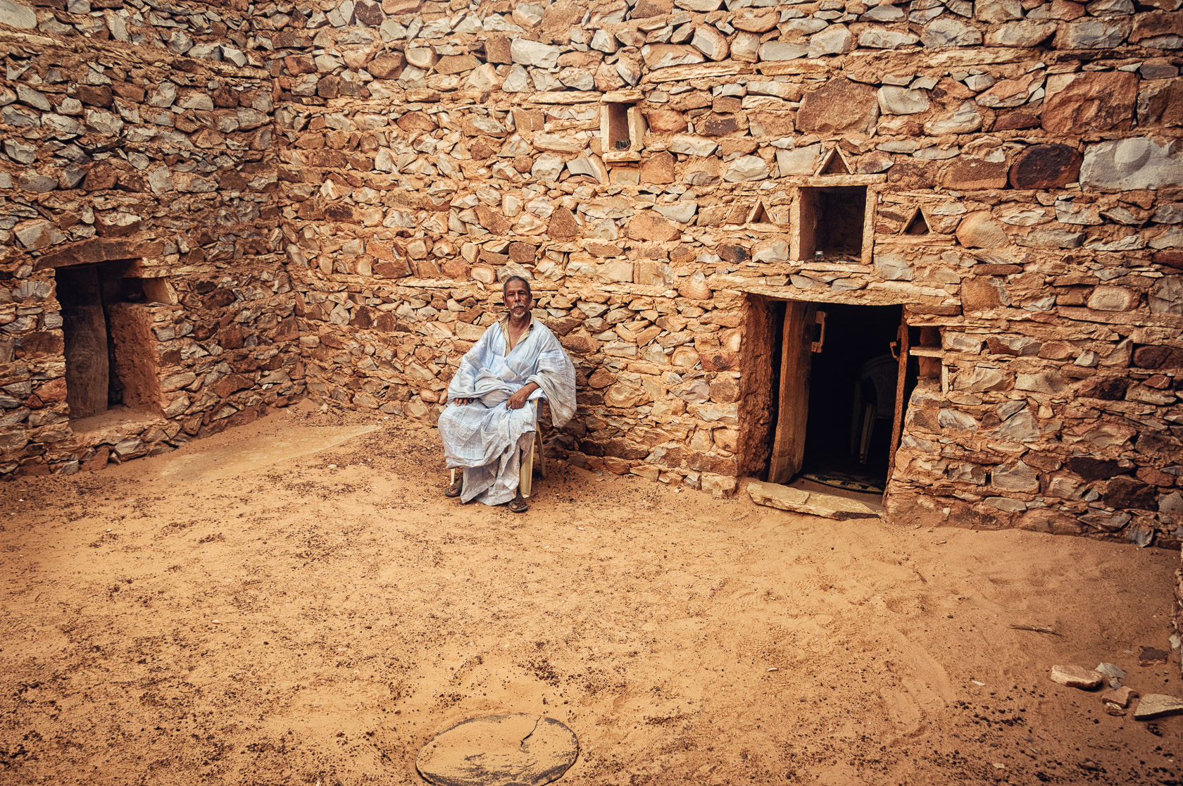 Librarian in an Ancient Saharan Library