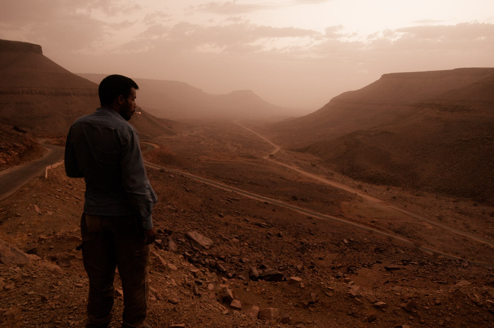 Looking over Adrar Mountains